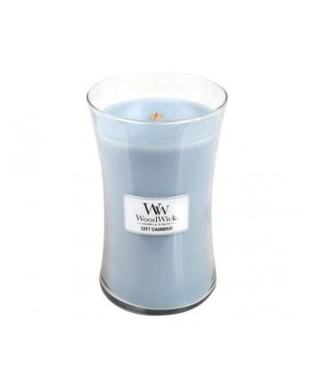Zapach w szkle WoodWick duża Soft Chambray 93086E (118mm x 110mm)