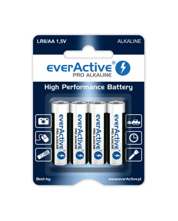 Baterie alkaliczne everActive LR64BLPA (x 4)