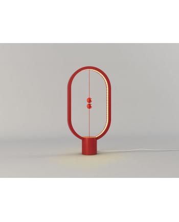 Lampa stołowa allocacoc Heng Balance Lamp Ellipse Plastic USB DH0040RD/HBLEUB (1 5m; Biały ciepły)