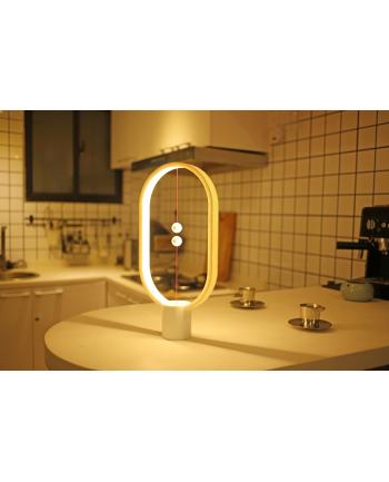 Lampa stołowa allocacoc Heng Balance Lamp Ellipse Plastic USB DH0040WT/HBLEUB (1 5m; Biały ciepły)