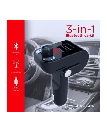 Transmiter FM FM do gniazda samochodowej zapalniczki GEMBIRD BTT-02 (USB 31)