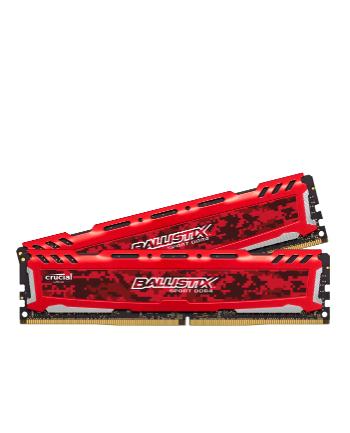 Ballistix DDR4 32 GB 2400-CL16 - Dual-Kit - Ballistix Sport LT Red