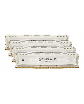 Ballistix DDR4 32 GB 2666-CL16 - Quad-Kit - Ballistix Sport LT White