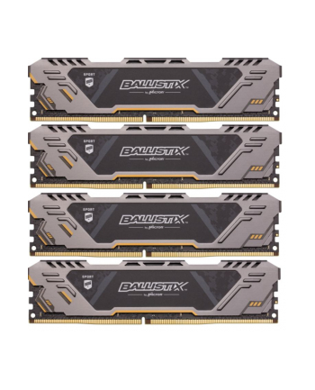 Ballistix DDR4 32 GB 2666-CL16 - Quad-Kit SR - Ballistix Sport AT Grey