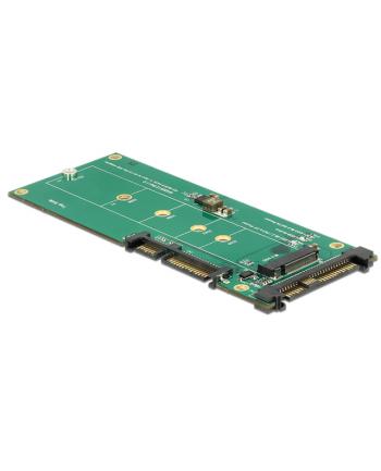 DeLOCK Adapter U.2 SFF> SATA /M.2 22P- SFF-8639 NVMe / M.2 Key M