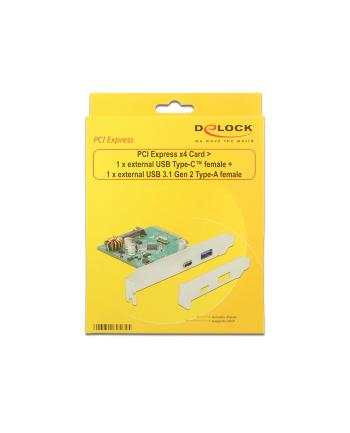 DeLOCK PCIe x4> 1x USB Type C / USB3.1- USB 3.1 Gen 2 Type-A
