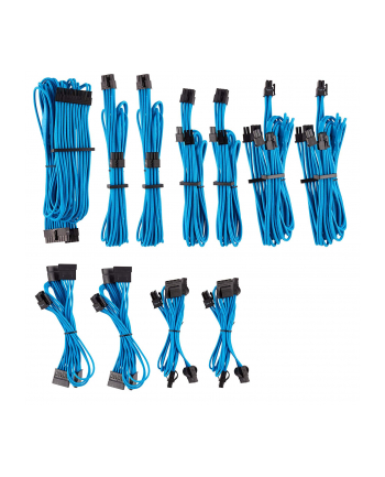 Corsair Power Supply Cable Premium Pro-Kit Type 4 Gen 4, 20-piece - blue