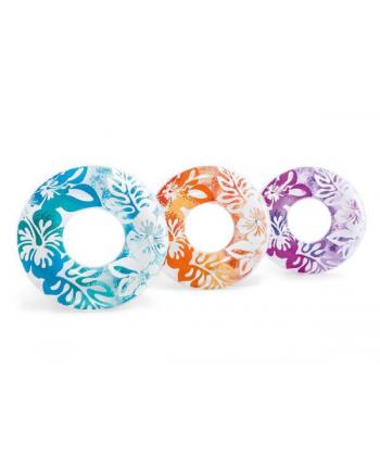 Koło do pływania w hawajskie kwiaty 3 kolory 59251NP INTEX