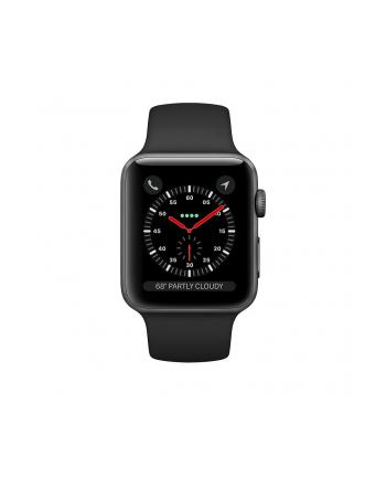 Apple Watch Series 3 GPS + Cellular, 38mm Koperta z aluminium w kolorze gwiezdnej szarości z paskiem sportowym w kolorze czarnym