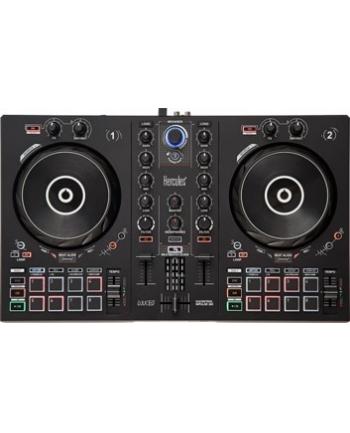 hercules Konsola DJ Inpuls 300, kontroler DJ ze złączem USB, 2 ścieżki, 16 padów i karta dźwiękowa, oprogramowanie i samouczki w zestawie