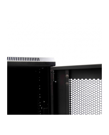 Netrack standing server cabinet 22U/600x600mm (perforated door) -black FULLY ASS