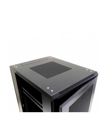Netrack szafa serwerowa stojąca 22U/600x800mm (drzwi perforowane)-czarny ZŁOŻONA