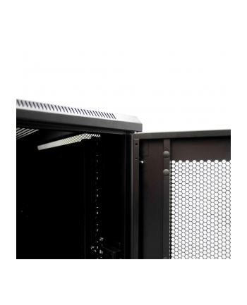 Netrack szafa serwerowa stojąca 32U/600x600mm (drzwi perforowane)-czarny ZŁOŻONA