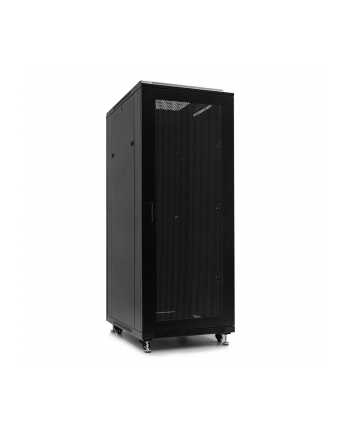 Netrack szafa serwerowa stojąca 32U/800x800mm (drzwi perforowane)-czarny ZŁOŻONA