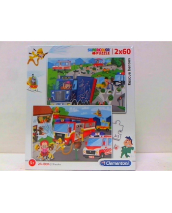 clementoni CLE puzzle 2X60 Rescue Heroes 21602