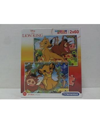 clementoni CLE puzzle 2x60 Król Lew 2019 21604
