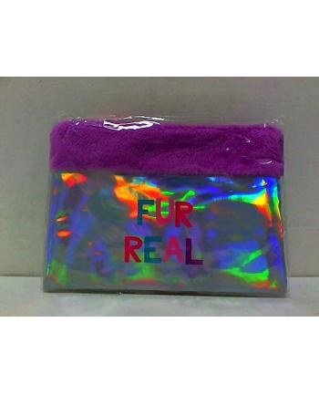 STNUX Kosmetyczka holografik fiolet STN5102