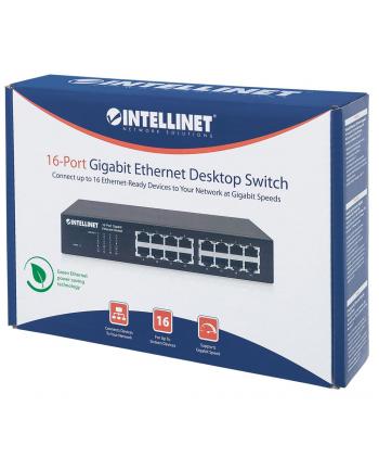 intellinet network solutions Intellinet Switch Gigabit 24x RJ45 + 2x SFP, VLAN, QoS, SNMP, Rack 19''