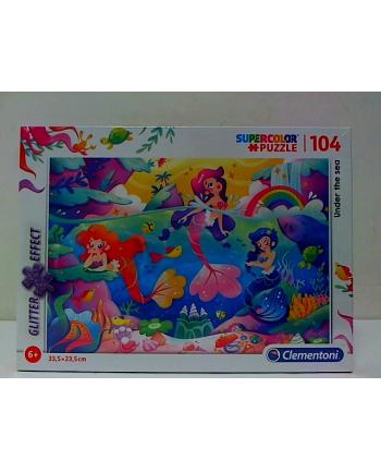 clementoni CLE puzzle 104 Glitter Under the sea 20149
