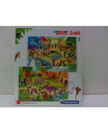 clementoni CLE puzzle 2X60 ZOO 21603