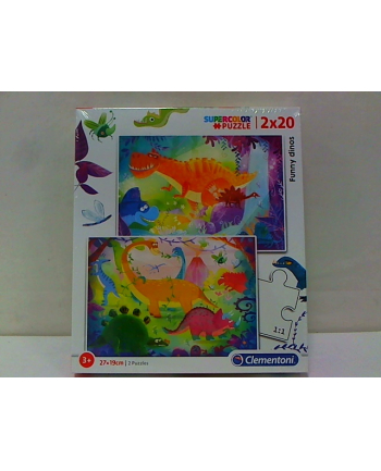 clementoni CLE puzzle 2X20 Funny dinos 24755