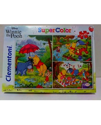 clementoni CLE puzzle 3X48 Kubuś Puchatek 25232