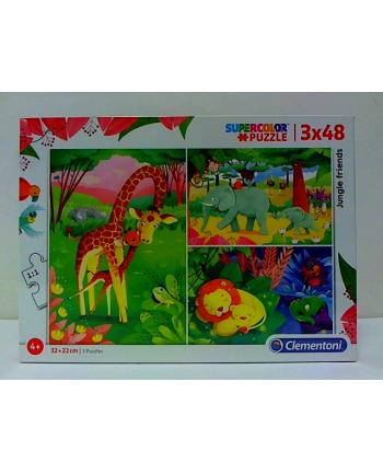 clementoni CLE puzzle 3X48 Przyjaciele z dżungli 25233