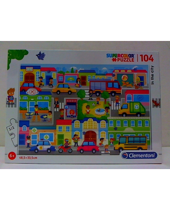 clementoni CLE puzzle 104 In the City 27114