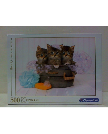 clementoni CLE puzzle 500 HQ Kittens and Soap 35065