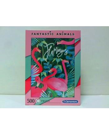 clementoni CLE puzzle 500 Fantastyczne zwierz. Flamingi 35067