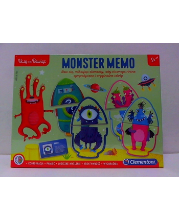 clementoni CLE Uczę się bawiąc - Monster memo 50086