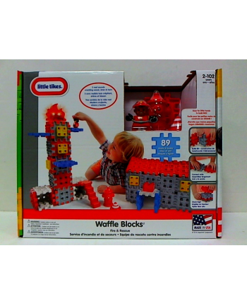 mga std LITTLE TIKES Waffle klocki straż+figurka 643149