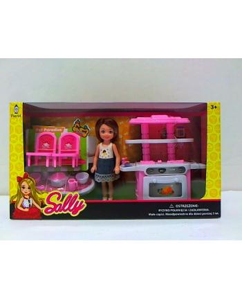 pierot Laleczka Sally - zestaw różowa kuchnia LA7735-A2