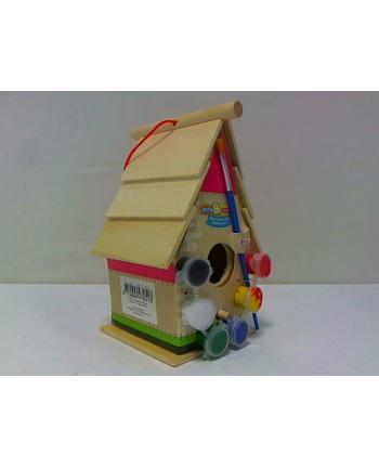 symag-llorens TOI TOYS drewniany domek dla ptaków do malow 47051